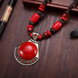 $enCountryForm.capitalKeyWord Australia - 2019 Vintage Ethnic Gypsy Tibetan Big Metal Bib Necklaces Exaggeration Geometric Metal Necklaces & Pendants For Women