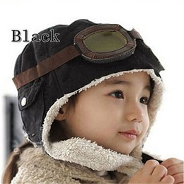 baby boy skull crochet beanies UK - Hot fashion Toddlers Warm Pilot Aviator cut Cap Hat Beanie Cool Baby Boy Girl Kids Infant Winter Pilot Cap 2 Colors