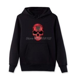 $enCountryForm.capitalKeyWord Australia - Albanian Flag Skull Personalized Hoodie Mans Punk Style Clothing Men Cotton Hoodies Coats Sweatshirt Spring Autumn Streetwear