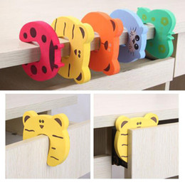 cute door stoppers 2019 - 5Pcs Lot Protection Baby Safety Cute Animal Security Door Stopper Baby Card Lock Newborn Care Child Finger Protector che