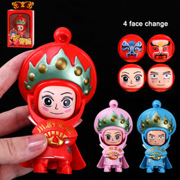 Discount opera dolls - Chinese Traditional Culture Sichuan Opera Face Change Doll Toys Kit DIY Educational Toys For Children Birthday Gifts