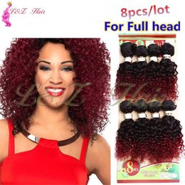 kinky curly hair weave styles Australia - Style Ombre Burgundy 1B 27 30 Brazilian Hairpiece jerry Weave 8pcs lot 8pcs lot unprocessed kinky curly brazilian short 8'' ombre brown