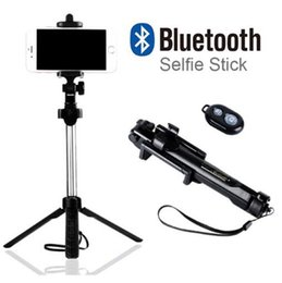 Monopod Stick Australia - Tripod Monopod Selfie Stick Bluetooth With Button Selfie Stick For Android OS For Iphone 6 7 8 Plus IOS (Retail)