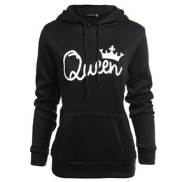 king springs UK - Couples King Queen Hoodies Women Clothes Men Hoodies Spring Autumn Fashion Sweatshirts