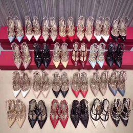 $enCountryForm.capitalKeyWord NZ - Women high heels dress shoes party fashion rivets girls sexy pointed toe shoes buckle platform pumps wedding shoes 50