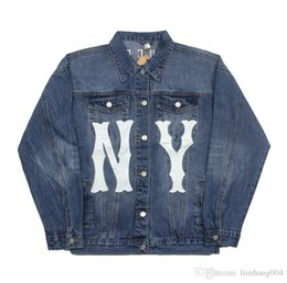 D branD jacket online shopping - New denim jacket fashion designer jacket brand Slim double casual men and women hip hop retro wind denim jacket double A D G