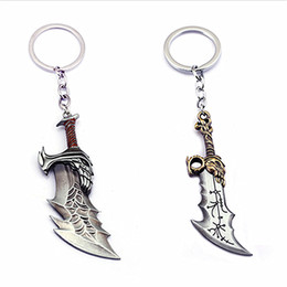 $enCountryForm.capitalKeyWord UK - KRATOS Blades of Chaos God of wars 4 keychain Shield key ring portachiavi llaveros thor fashion jewelry