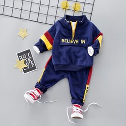girls hooded tracksuits UK - Spring Kids Sport Suit Boys Girls Hooded Clothing Set Zipper Sports Clothes For 1 2 3 4 Years Children Tracksuit CY200516
