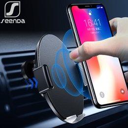 Qi For Iphone Australia - Seenda Infrared Sensor Intelligent Qi Wireless Charging 10w Fast Car Charger For Iphone Xs Max Xr Huawei Samsung Black Friday J190427