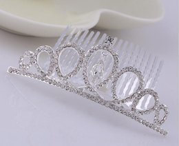 Hair Combs For Girls Australia - Kids Crystal Tiaras Girls Hair Jewelry for Birthday Party Princess Crystal Crown Colorful Rhinestone Hair Combs