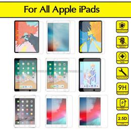 Опт Для iPad Air 4 10.9 2020 10.2 2019 7th Gen Pro 9.7 11 12.9 AIR 2 MINI 4 3 2 Тонкие жесткие 9H Чистый закаленный стеклянный экран Протектор дешевый фильм