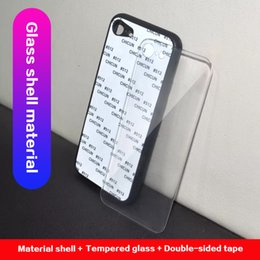 glasses case material NZ - Custom printed tempered glass material phone case for iPhone 6s 7 8 plus x xs max