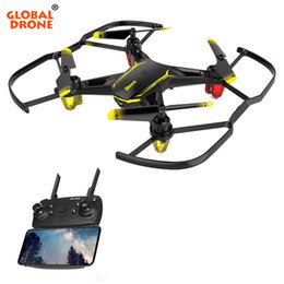 Micro Helicopter Toy Australia - Global Drone GW66 Mini Quadrocopter FPV Drones with Camera RC Helicopter Dron Micro Drone for Beginner Toys for Boys