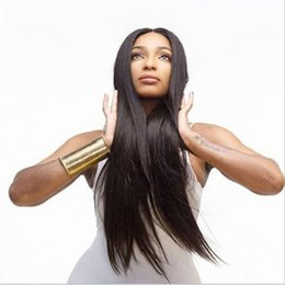cheap good wigs NZ - Long Straight Human Hair Wigs For Women Cheap Wigs 26 Inch Natural Color Brazilian Remy Hair affordable human hair wigs Good Quality