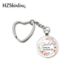Silver Falls Australia - 2019 Fashion Bible Quote Keychain God Is Within Her , She Is Not Fall Verse Christian Jewelry Bag Car Holder Keyring Gifts