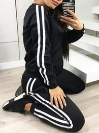 longer length sweatshirts Canada - Tracksuit Long Sleeve Hooded Sweatshirts Ankle Length Pants Set Women Two Piece Outfits Casual Sport Suit Tracksuit Red Black