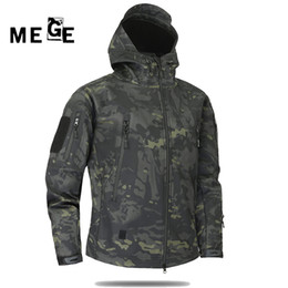 Discount yellow jacket fabric - MEGE Men Jacket Winderbreaker, Hunting Hiking Camping Hoodies, Camouflgae Thermal Sports Jacket Softshell Fleece fabric