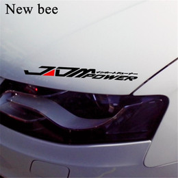 $enCountryForm.capitalKeyWord Australia - Newbee JDM POWER Car Sticker Reflective Waterproof Window Bumper Decal Vinyl For Mitsubishi