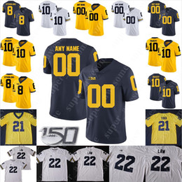 ingrosso cesar-Michigan Wolverines Jersey di calcio Shea Patterson Donovan Peoples Jones Ben Bredeson Cesar Ruiz Luiji Vilain Brandon Peters Ambry Thomas