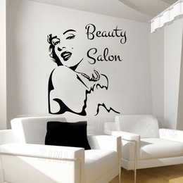 wall stickers sexy girls NZ - Sexy Fashion Poster Beauty Salon Wall Stickers Girl Face Decal Vinyl Decals Girls Bedroom Art Home Wall Decor Wallpaper