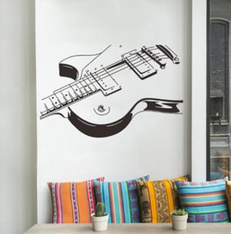 $enCountryForm.capitalKeyWord Australia - Personality creative music guitar bedroom large decorative wall stickers creative fashion home popular black and white stickers