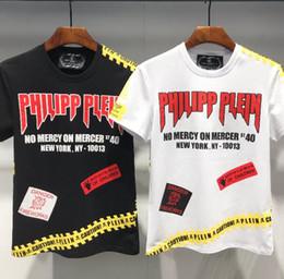 Vente en gros 2019 T-shirt à manches courtes T-shirt imprimé QP en coton pour hommes T-shirts décontractés P1195