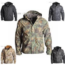 Hunting Camouflage Jacket Australia - Men's Army Camouflage Jacket Coat Outdoor Tactical Jacket Winter Waterproof Hooded Jackets Windbreaker Hunt Clothes