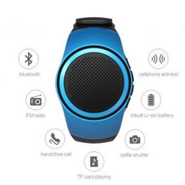 watch player 2019 - B20 Bluetooth Sports Music Watch Portable Mini Watch Bluetooth 2.1+EDR Sport Speaker TF Card FM Radio Selfis Speakers wi