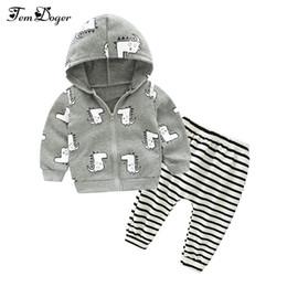 $enCountryForm.capitalKeyWord UK - Tem Doge Autumn Winter Baby Boy Clothing Set Newborn Girls Underwear Suit Infant Knitted Zipper Coat+Pants 2PCS Outfits Clothes Y190515