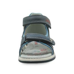 Toddler Summer Sandals Boys UK - Boys Shoes New 2018 Summer Kids Sandals Pu Leather Flat Children's Shoes for Toddler Boys Orthopedic Baby Sandals