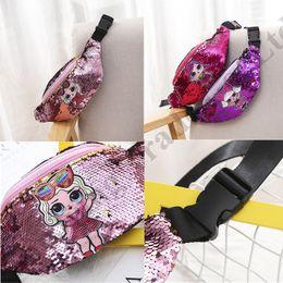 Princess chest online shopping - Ins Surprise Girls Cartoon Designer Fannypack Mermaid Sequins Waist Bag Princess Coin Purses Wallet Belt Chest Bag Pack Hip Bum Bag B71704