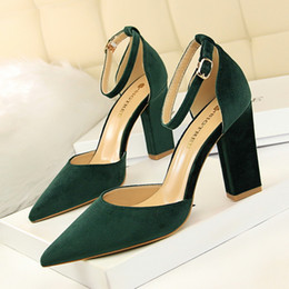 $enCountryForm.capitalKeyWord Australia - Superior2019 Concise 293-2 Women's Coarse High With Cavity Shallow Mouth Sharp Down Noodles Sexy Thin Single Shoe High-heeled Shoes