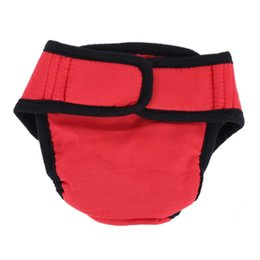 underwear dogs Canada - Pet Large Dog Diaper Sanitary Physiological Pants Washable Female Dog Shorts Panties Menstruation Underwear Briefs Short 2018