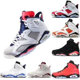 Discount real leather men - Cheap 6 Basketball Shoes New 2019 6s Men s Women Real Man Women Hombre Basket Sneakers size 7-13