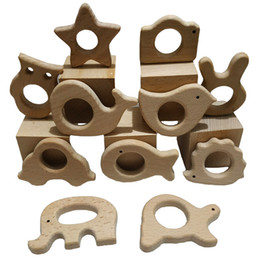 teether rings Australia - Nature baby teething toys 11pc Wooden Teether Montessori Toys Wood Teether Rings Organic Infant Teether Handmade Pendant Set Shower Gift