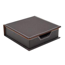 $enCountryForm.capitalKeyWord UK - Leather Memo Box Office School Supplies Desk Accessories Organizer Card Holder Note Holder Sticky Note Storage Box