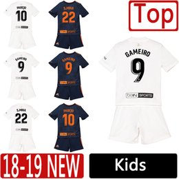 1e045f6cb1e 2019 Valencia Kids Kit Soccer Jerseys GUEDES PAREJO GAMEIRO 18 19 Young  Football Shirts S. MINA GAYA Top Thailand Children Football Uniform