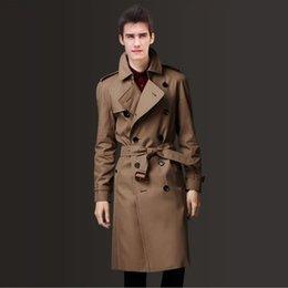 Primavera autunno inverno nuovi uomini giacca a vento Europa e gli Stati Uniti grande nome British corpo riparazione giacca lunga giacca a vento da uomo in Offerta
