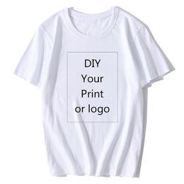 $enCountryForm.capitalKeyWord Australia - Your Own Design Brand Logo picture White Black Gray Custom Tshirt Men And Women Harajuku T-shirt Plus Size T Shirt Men Clothing S403