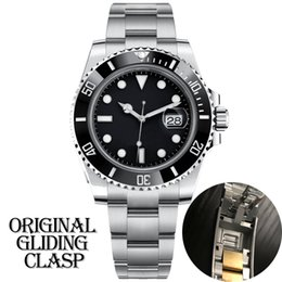 luxury mens designer black watch automatic mechanical Ceramic Bezel full Stainless Steel Original Gliding clasp Sapphire 5ATM waterproof U1 on Sale