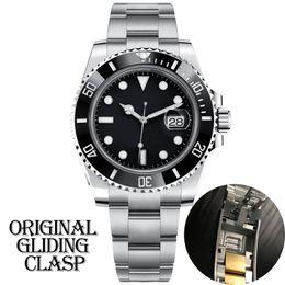 Wholesale mens black watch automatic mechanical Ceramic Bezel full Stainless Steel Original Gliding clasp Sapphire 5ATM waterproof U1 u1 factory