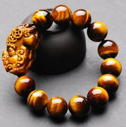 $enCountryForm.capitalKeyWord Australia - Jewelryr Pearl Bracelet Fine Jewelry Fashion Natural Tigereye16mm Elastic Circular Bead Bracelets Best Gift Free Shipping