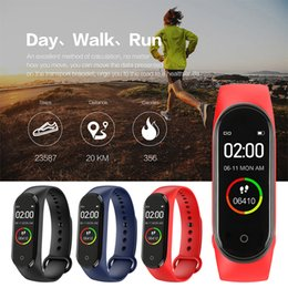 fitness bluetooth Australia - M4 Smart Wristband band Heart rate monitor Band Blood Pressure Sport Pedometer Bracelet Fitness tracker Smart bluetooth watch for iphone