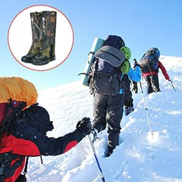 boot leg gaiters UK - Unisex Waterproof Legging Leg Cover Gaiter Hiking Camping Snow Ski Boot Shoe Travel Hunting Climbing Windproof Leggings