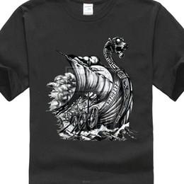 dragon boats 2019 - Viking Ship Viii T Shirt Boat Dragon Norse Norsemen Odin Thor Valhalla 2019 New Tshirt discount dragon boats