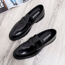 $enCountryForm.capitalKeyWord UK - Cowhide Genuine European Version Business Affairs Correct Dress Patent Leather England Trend Ventilation Enchanting2019 Shoes
