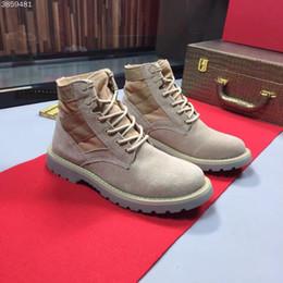 850c3da305 Herrenmode Mode Schuhe hohe Qualität 38-45 Größe Leder Herren kurze Stiefel  Schnürung coole Schuhe Komfortabel und atmungsaktiv, Anti-Skid