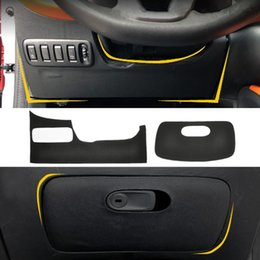 kick mats Australia - Leather Car Glove Box Sticker Drive Side Anti-kick Mat for Smart fortwo forfour 2015 2016 2017 2018 2019 Styling