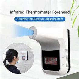 Wholesale Handsfree Digital Infrared Thermometer Gun Non-contact Forehead Body Thermometer Gun LCD Display Office   Metro   Home Use