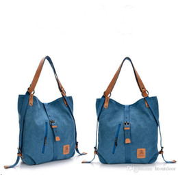Cross body sChool bags leather online shopping - Vintage Canvas Backpack Outdoor Travel Hiking Weekend Casual Cross Body Shoulder Bag Leather Rucksack School Bag Daypack